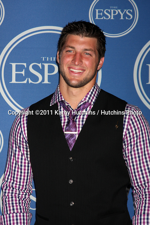 LOS ANGELES - JUL 13:  Tim Tebow in the Press Room of the 2011 ESPY Awards at Nokia Theater at LA Live on July 13, 2011 in Los Angeles, CA