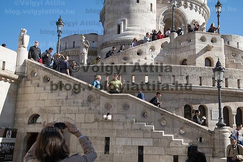 Tourists visit Budapest's landmark Fisherman's Bastion on World Tourism Day in Budapest, Hungary on Sept. 27, 2018. ATTILA VOLGYI