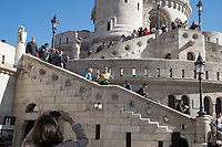 Tourists visit Budapest's landmark Fisherman's Bastion on World Tourism Day in Budapest, Hungary on Sept. 27, 2018. ATTILA VOLGYI
