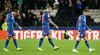 Bolton Wanderers' Christian Doidge, Ben Alnwick and  Craig Noone dejected at the end of the match<br /> <br /> Photographer Andrew Kearns/CameraSport<br /> <br /> The EFL Sky Bet Championship - Hull City v Bolton Wanderers - Tuesday 1st January 2019 - KC Stadium - Hull<br /> <br /> World Copyright © 2019 CameraSport. All rights reserved. 43 Linden Ave. Countesthorpe. Leicester. England. LE8 5PG - Tel: +44 (0) 116 277 4147 - admin@camerasport.com - www.camerasport.com