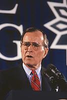 Washington DC., USA, 1989<br /> President George  H.W. Bush portrait. Credit: Mark Reinstein/MediaPunch