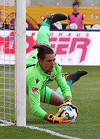 goalkeeper Daniel Mesenhoeler     <br /> / Sport / Football /   2.Bundesliga  DFL /  2017/2018 / 13.05.2018 / SG Dynamo Dresden SGD vs. 1.FC Union Berlin FCU 180513050 /      <br />     *** Local Caption *** © pixathlon<br /> Contact: +49-40-22 63 02 60 , info@pixathlon.de