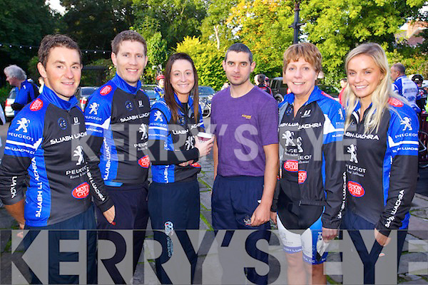 Sliabh Luachra cycling club who took part in the Chain Gang cycle on Saturday morning were l-r: Paudie Keane, Donie Kelliher, Siobhan Kelliher, Denis Kelliher, Hannah O'Connor and Elaine Collins.