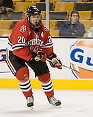 Yale Lewis (NU - 20) - The Northeastern University Huskies defeated the Harvard University Crimson 3-1 in the Beanpot consolation game on Monday, February 12, 2007, at TD Banknorth Garden in Boston, Massachusetts.