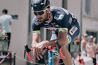 Guillaume Van Keirsbulck (BEL/Wanty-Groupe Gobert) solo's in front of everybody else for 190 kilometers <br /> <br /> 104th Tour de France 2017<br /> Stage 4 - Mondorf-les-Bains &rsaquo; Vittel (203km)