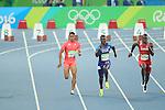Aska Cambridge (JPN), Justin Gatlin (USA), Kemarley Brown (BHR)<br /> AUGUST 14, 2016 - Athletics : <br /> Men's 100m Semi-final <br /> at Olympic Stadium <br /> during the Rio 2016 Olympic Games in Rio de Janeiro, Brazil. <br /> (Photo by YUTAKA/AFLO SPORT)