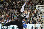 BHCs Mario Huhnstock (Nr.12) mit einer Parade hat den Ball im Griff im Spiel des DHB Pokal, VfL Gummersbach - Bergischer HC.<br /> <br /> Foto &copy; P-I-X.org *** Foto ist honorarpflichtig! *** Auf Anfrage in hoeherer Qualitaet/Aufloesung. Belegexemplar erbeten. Veroeffentlichung ausschliesslich fuer journalistisch-publizistische Zwecke. For editorial use only.