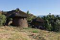 23/01/12. Lalibela, Ethiopia. Lalibela-style, double-storey round houses. Photo credit: Jane Hobson.