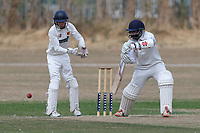 U Kiani in batting action for during Oakfield Parkonians CC (batting) vs Wickford CC, Shepherd Neame Essex League Cricket at Oakfield Playing Fields on 4th August 2018