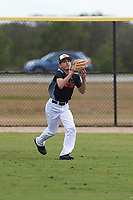 Rene Galvan (5) of Sinton, Texas during the Baseball Factory All-America Pre-Season Rookie Tournament, powered by Under Armour, on January 13, 2018 at Lake Myrtle Sports Complex in Auburndale, Florida.  (Michael Johnson/Four Seam Images)