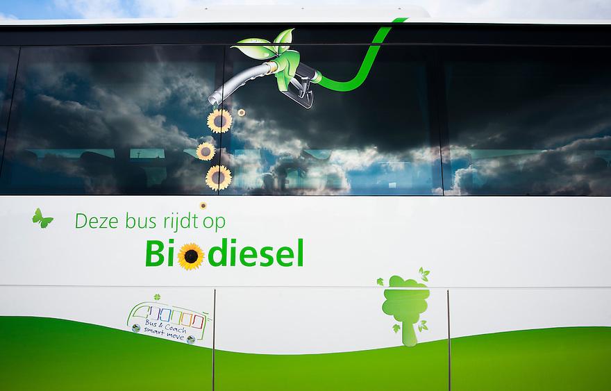 Nederland, Rotterdam, 7 okt 2013<br /> Bus die op biodiesel rijdt. <br /> Foto(c): Michiel Wijnbergh