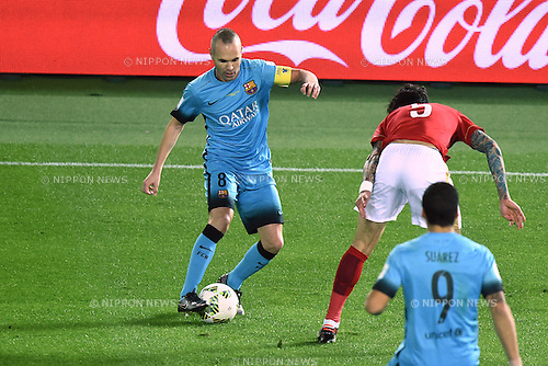 Andres Iniesta (Barcelona), <br /> DECEMBER 17, 2015 - Football / Soccer : <br /> FIFA Club World Cup Japan 2015 semi-fina match <br /> between FC Barcelona 3-0 Guangzhou Evergrande <br /> at Yokohama International Stadium, Kanagawa, Japan. <br /> (Photo by AFLO SPORT)