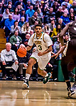 18 December 2018: University of Vermont Catamount Forward Anthony Lamb, a Junior from Toronto, Ontario, in first half action against the St. Bonaventure University Bonnies at Patrick Gymnasium in Burlington, Vermont. The Catamounts defeated the Bonnies 83-76 in a double-overtime NCAA DI game. Mandatory Credit: Ed Wolfstein Photo *** RAW (NEF) Image File Available ***