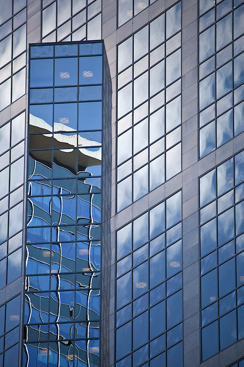 Reflections on the side of a building in Calgary, Alberta, Canada
