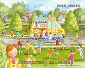 Ingrid, CHILDREN, KINDER, NIÑOS, paintings+++++,USISMS04C,#K#,ice cream ,vintage
