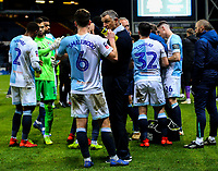 Blackburn Rovers manager Tony Mowbray gives instructions to his team after full time<br /> <br /> Photographer Alex Dodd/CameraSport<br /> <br /> Emirates FA Cup Third Round Replay - Blackburn Rovers v Newcastle United - Tuesday 15th January 2019 - Ewood Park - Blackburn<br />  <br /> World Copyright &copy; 2019 CameraSport. All rights reserved. 43 Linden Ave. Countesthorpe. Leicester. England. LE8 5PG - Tel: +44 (0) 116 277 4147 - admin@camerasport.com - www.camerasport.com