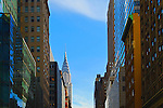 Looking towards Chrysler Building from 5th Avenue in Midtown Manhattan, New York City.