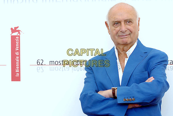 MIMMO ROTELLA.62nd International Film Festival,.Photocall of the Orizzonti's jury,.Venice, 31st August 2005.portrait headshot judge panel blue jacket white shirt arms crossed folded.www.capitalpictures.com.sales@capitalpictures.com.© Capital Pictures.