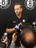 Brooklyn Nets General Manager Sean Marks speaks with the media at HSS Training Center in Brooklyn, NY on Tuesday, July 17, 2018.