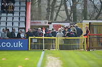 Cambridge fans during Stevenage vs Cambridge United, Sky Bet EFL League 2 Football at the Lamex Stadium on 14th April 2018