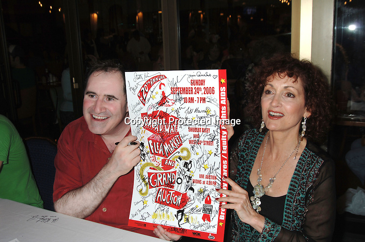 Richard Kind and Robin Strasser..at The 20th Annual Broadway Cares/Equity Fights Aids Broadway Flea Market, Celebrity Autograph Table and Grand Auction on September 24, 2006 at Shubert Alley...Robin Platzer, Twin Images