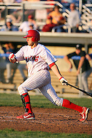 June 21st, 2007:  Andrew Brown of the Batavia Muckdogs, Short-Season Class-A affiliate of the St. Louis Cardinals at Dwyer Stadium in Batavia, NY.  Photo by:  Mike Janes/Four Seam Images