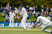 Stuart Broad of England guides one though the slips during Day 4 of the Second International Cricket Test match, New Zealand V England, Hagley Oval, Christchurch, New Zealand, 2nd April 2018.Copyright photo: John Davidson / www.photosport.nz