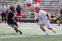 College Park, MD - May 14, 2017: Maryland Terrapins Matt Rambo (1) runs with the ball during the NCAA first round game between Bryant and Maryland at  Capital One Field at Maryland Stadium in College Park, MD.  (Photo by Elliott Brown/Media Images International)
