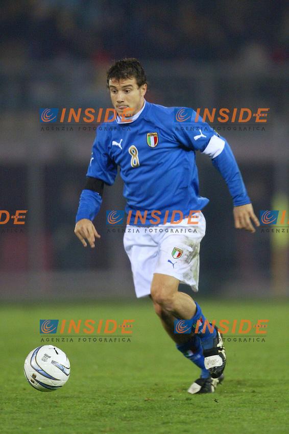Rieti 19 Novembre 2003 Qualificazioni Campionato Europeo Under 21<br /> Italia Danimarca Under 21 0-0<br /> Matteo Brighi<br /> Foto Andrea Staccioli Insidefoto