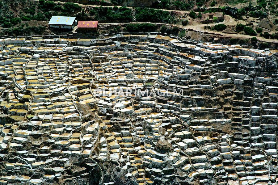 Extração de sal em salinas de Maras. Peru. 2006. Foto de Flávio bacellar.