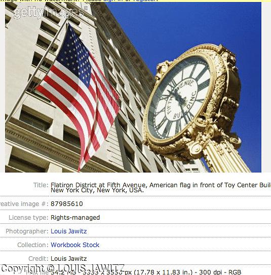 toy center, N.Y.C., n.y. , 23 street, flatiron district , american flag, Clock