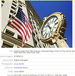 toy center, N.Y.C., n.y. , 23 street, flatiron district , american flag, Clock