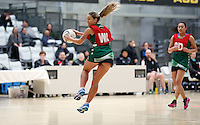 01.10.2015 Tokoroa's Petrice Tarrant in action during the Manawatu v Tokoroa netball match at the Netball NZ National Champs played at the ASB Sports Centre in Wellington. Mandatory Photo Credit ©Michael Bradley.