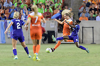 Houston, TX - Saturday Sept. 03, 2016: Cami Privett, Jasmyne Spencer during a regular season National Women's Soccer League (NWSL) match between the Houston Dash and the Orlando Pride at BBVA Compass Stadium.