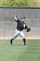 Brady Shoemaker #22 of the Chicago White Sox hits a homerun in a minor league spring training game against the Cleveland Indians at the White Sox complex on March 24, 2011 in Glendale, Arizona. .Photo by:  Bill Mitchell/Four Seam Images.