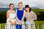 Pictured at the Presentation Tralee Debs ball at the Ballyroe Heights Hotel on Thursday, were, from l-r Aneta Gaxha, Claire Crowley and Geena Godley