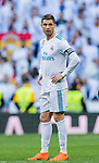Cristiano Ronaldo of Real Madrid looks on during the La Liga 2017-18 match between Real Madrid and Deportivo Alaves at Santiago Bernabeu Stadium on February 24 2018 in Madrid, Spain. Photo by Diego Souto / Power Sport Images