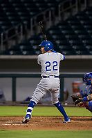 AZL Royals third baseman Mauricio Ramos (22) at bat against the AZL Cubs on July 19, 2017 at Sloan Park in Mesa, Arizona. AZL Cubs defeated the AZL Royals 5-4. (Zachary Lucy/Four Seam Images)