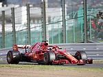 06.10.2018, Suzuka International Racing Course, Suzuka, Formula 1 2018 Honda Japanese Grand Prix<br />  , im Bild<br />Sebastian Vettel (GER#5), Scuderia Ferrari winkt den Zuschauern<br /><br /><br /> <br /> <br /> Foto &copy; nordphoto / Bratic