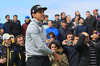 Rafa Cabrera Bello (ESP) on the 2nd tee during Round 1 of the Open de Espana 2018 at Centro Nacional de Golf on Thursday 12th April 2018.<br /> Picture:  Thos Caffrey / www.golffile.ie<br /> <br /> All photo usage must carry mandatory copyright credit (&copy; Golffile | Thos Caffrey)