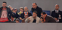 Calcio, Serie A: Roma vs ChievoVerona. Roma, stadio Olimpico, 31 ottobre 2013.<br /> AS Roma forward Francesco Totti sits on the stand during the Italian Serie A football match between AS Roma and ChievoVerona at Rome's Olympic stadium, 31 October 2013.<br /> UPDATE IMAGES PRESS/Isabella Bonotto