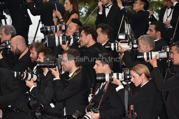 CANNES, FRANCE - MAY 12: Photographers at&laquo;Money Monster` screening - 69th Cannes Film Festival, France May 12, 2016.<br />