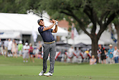 28th May 2017, Fort Worth, Texas, USA; Kevin Kisner hits his approach shot to #17 during the final round of the PGA Dean & Deluca Invitational at Colonial Country Club in Fort Worth, TX.