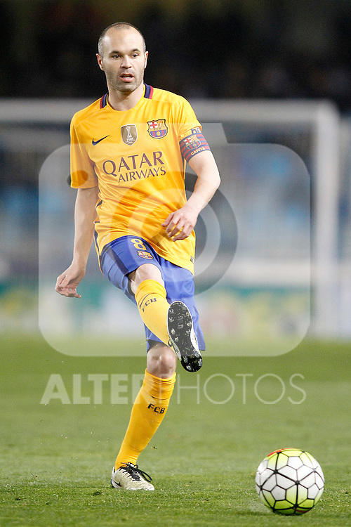 FC Barcelona's Andres Iniesta during La Liga match. April 9,2016. (ALTERPHOTOS/Acero)