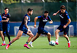 UD Levante's Sergio Leon, Gonzalo Melero and Enis Bardhi during training session. May 28,2020.(ALTERPHOTOS/UD Levante/Pool)