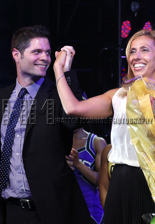 Tom Kitt &  Amanda Green during the Broadway Opening Night Performance Curtain Call for  'Bring it On The Musical' at the St. James Theatre in New York City on 8/1/2012