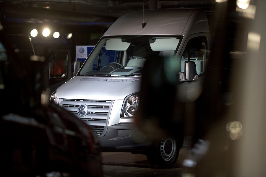Photo: © Martin Beddall 5-7-06.VW Crafter van presentation day at Dover. Introducing the new van to Uk dealers and their customers as part of a roadshow around the UK.
