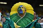 Brazil fans (BRA),<br /> JULY 8, 2014 - Football / Soccer :<br /> FIFA World Cup Brazil 2014 Semi-finals match between Brazil 1-7 Germany at Estadio Mineirao in Belo Horizonte, Brazil. (Photo by SONG Seak-In/AFLO)
