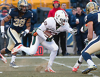Miami safety Jamal Carter (12).The Miami Hurricanes defeated the Pitt Panthers 41-31 at Heinz Field, Pittsburgh, Pennsylvania on November 29, 2013.