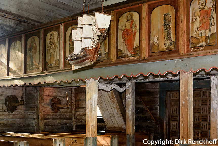 Kirche, Freilichtmuseum auf der Insel Seurasaari, Helsinki, Finnland